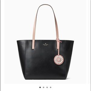 Kate Spade Rosa Medium Tote Black w/Dusty Pink